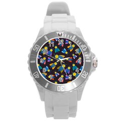 Bees Animal Insect Pattern Round Plastic Sport Watch (l) by Nexatart