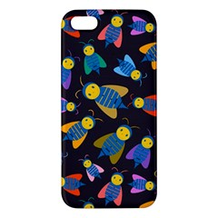 Bees Animal Insect Pattern Apple Iphone 5 Premium Hardshell Case by Nexatart