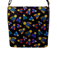 Bees Animal Insect Pattern Flap Messenger Bag (l)  by Nexatart