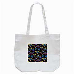 Bees Animal Insect Pattern Tote Bag (white) by Nexatart