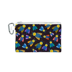 Bees Animal Insect Pattern Canvas Cosmetic Bag (s) by Nexatart