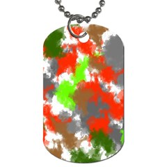 Abstract Watercolor Background Wallpaper Of Splashes  Red Hues Dog Tag (two Sides)