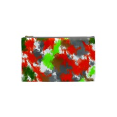 Abstract Watercolor Background Wallpaper Of Splashes  Red Hues Cosmetic Bag (small)