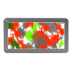 Abstract Watercolor Background Wallpaper Of Splashes  Red Hues Memory Card Reader (mini)