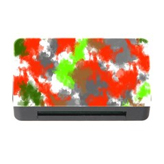 Abstract Watercolor Background Wallpaper Of Splashes  Red Hues Memory Card Reader With Cf by Nexatart