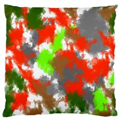 Abstract Watercolor Background Wallpaper Of Splashes  Red Hues Large Cushion Case (two Sides)