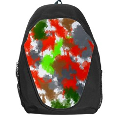 Abstract Watercolor Background Wallpaper Of Splashes  Red Hues Backpack Bag