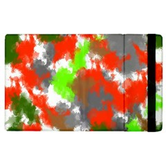 Abstract Watercolor Background Wallpaper Of Splashes  Red Hues Apple Ipad 2 Flip Case by Nexatart