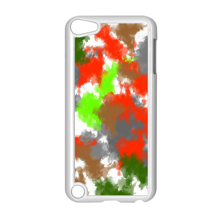 Abstract Watercolor Background Wallpaper Of Splashes  Red Hues Apple iPod Touch 5 Case (White)