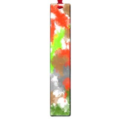 Abstract Watercolor Background Wallpaper Of Splashes  Red Hues Large Book Marks by Nexatart