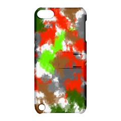 Abstract Watercolor Background Wallpaper Of Splashes  Red Hues Apple Ipod Touch 5 Hardshell Case With Stand by Nexatart
