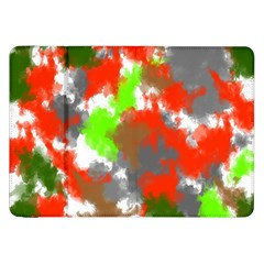Abstract Watercolor Background Wallpaper Of Splashes  Red Hues Samsung Galaxy Tab 8 9  P7300 Flip Case by Nexatart