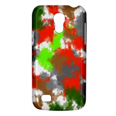 Abstract Watercolor Background Wallpaper Of Splashes  Red Hues Galaxy S4 Mini by Nexatart