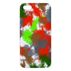 Abstract Watercolor Background Wallpaper Of Splashes  Red Hues Iphone 5s/ Se Premium Hardshell Case by Nexatart