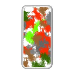 Abstract Watercolor Background Wallpaper Of Splashes  Red Hues Apple Iphone 5c Seamless Case (white) by Nexatart