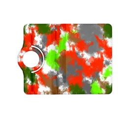 Abstract Watercolor Background Wallpaper Of Splashes  Red Hues Kindle Fire Hd (2013) Flip 360 Case by Nexatart