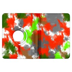 Abstract Watercolor Background Wallpaper Of Splashes  Red Hues Kindle Fire HDX Flip 360 Case