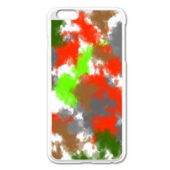 Abstract Watercolor Background Wallpaper Of Splashes  Red Hues Apple Iphone 6 Plus/6s Plus Enamel White Case
