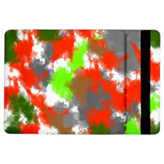 Abstract Watercolor Background Wallpaper Of Splashes  Red Hues Ipad Air 2 Flip by Nexatart