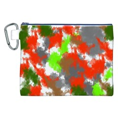 Abstract Watercolor Background Wallpaper Of Splashes  Red Hues Canvas Cosmetic Bag (xxl) by Nexatart