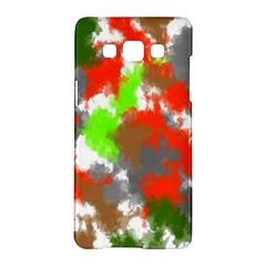 Abstract Watercolor Background Wallpaper Of Splashes  Red Hues Samsung Galaxy A5 Hardshell Case  by Nexatart