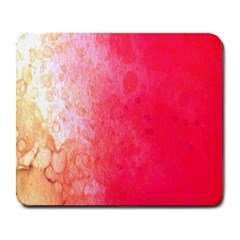 Abstract Red And Gold Ink Blot Gradient Large Mousepads by Nexatart