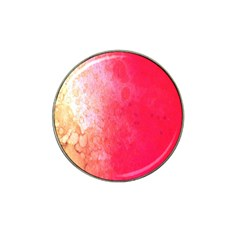 Abstract Red And Gold Ink Blot Gradient Hat Clip Ball Marker (4 Pack) by Nexatart