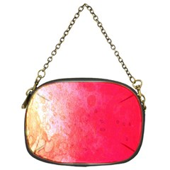 Abstract Red And Gold Ink Blot Gradient Chain Purses (one Side)