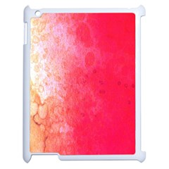 Abstract Red And Gold Ink Blot Gradient Apple Ipad 2 Case (white) by Nexatart
