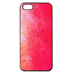 Abstract Red And Gold Ink Blot Gradient Apple Iphone 5 Seamless Case (black) by Nexatart