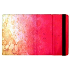 Abstract Red And Gold Ink Blot Gradient Apple Ipad 3/4 Flip Case by Nexatart
