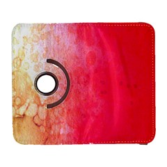 Abstract Red And Gold Ink Blot Gradient Galaxy S3 (flip/folio)