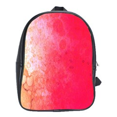 Abstract Red And Gold Ink Blot Gradient School Bags (xl)