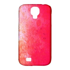 Abstract Red And Gold Ink Blot Gradient Samsung Galaxy S4 Classic Hardshell Case (pc+silicone)
