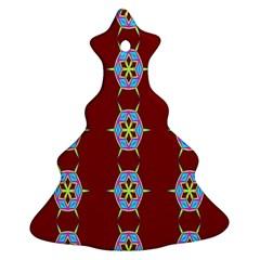 Geometric Seamless Pattern Digital Computer Graphic Wallpaper Ornament (christmas Tree)  by Nexatart