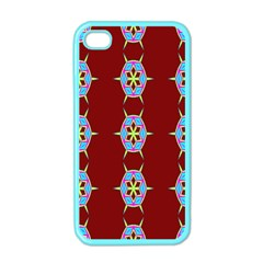 Geometric Seamless Pattern Digital Computer Graphic Wallpaper Apple Iphone 4 Case (color) by Nexatart