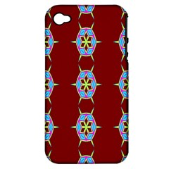 Geometric Seamless Pattern Digital Computer Graphic Wallpaper Apple Iphone 4/4s Hardshell Case (pc+silicone) by Nexatart