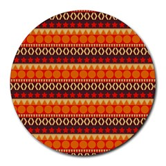 Abstract Lines Seamless Pattern Round Mousepads by Nexatart
