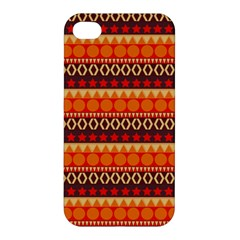 Abstract Lines Seamless Pattern Apple Iphone 4/4s Hardshell Case by Nexatart