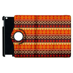 Abstract Lines Seamless Pattern Apple Ipad 2 Flip 360 Case by Nexatart