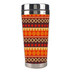 Abstract Lines Seamless Pattern Stainless Steel Travel Tumblers by Nexatart