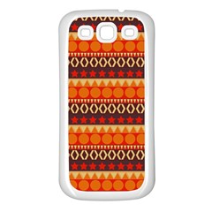 Abstract Lines Seamless Pattern Samsung Galaxy S3 Back Case (white) by Nexatart