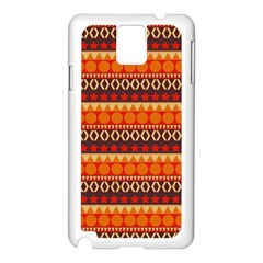 Abstract Lines Seamless Pattern Samsung Galaxy Note 3 N9005 Case (white)
