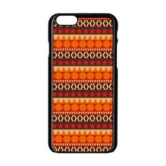 Abstract Lines Seamless Pattern Apple Iphone 6/6s Black Enamel Case by Nexatart