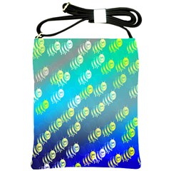 Swarm Of Bees Background Wallpaper Pattern Shoulder Sling Bags by Nexatart