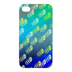 Swarm Of Bees Background Wallpaper Pattern Apple Iphone 4/4s Premium Hardshell Case by Nexatart