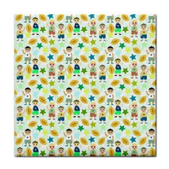 Football Kids Children Pattern Tile Coasters by Nexatart