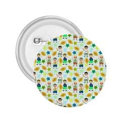 Football Kids Children Pattern 2 25  Buttons by Nexatart