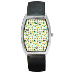 Football Kids Children Pattern Barrel Style Metal Watch by Nexatart