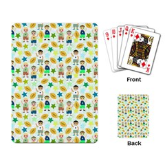 Football Kids Children Pattern Playing Card by Nexatart